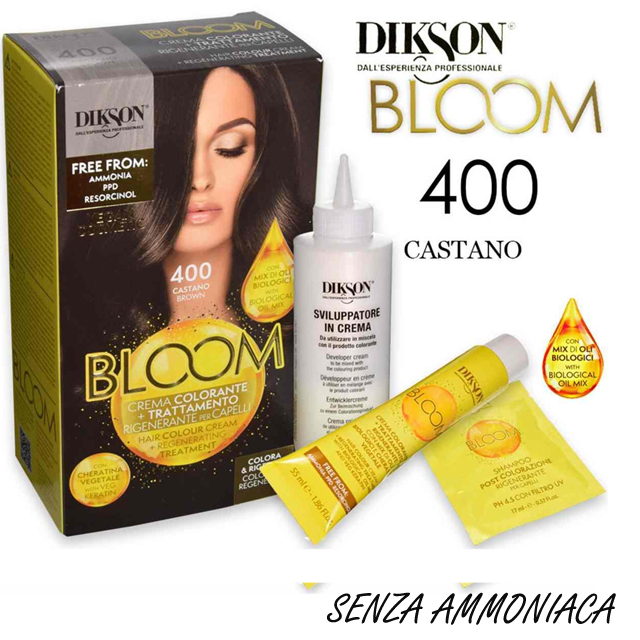 DIKSON BLOOM C.COLOR 400 CASTANO    AMMON/RESORCINA FREE