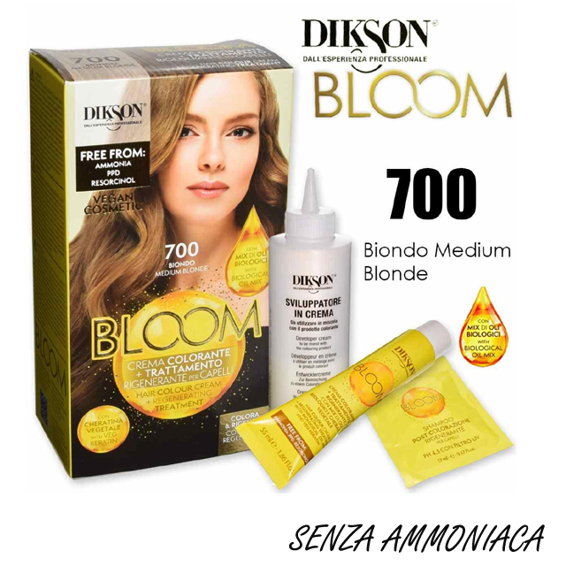 DIKSON BLOOM C.COLOR 700 BIONDO     AMMON/RESORCINA FREE